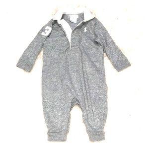 Ralph Lauren bodysuit grey boys baby polo 3M